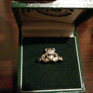 Thomas Dillon Claddagh Ring 9ct White Gold sz 6.5